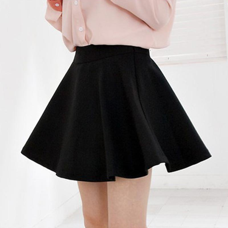 2018 spring and summer new fashion half-length women's pleated mini skirt high waist skirt  casual women's leggings skirts