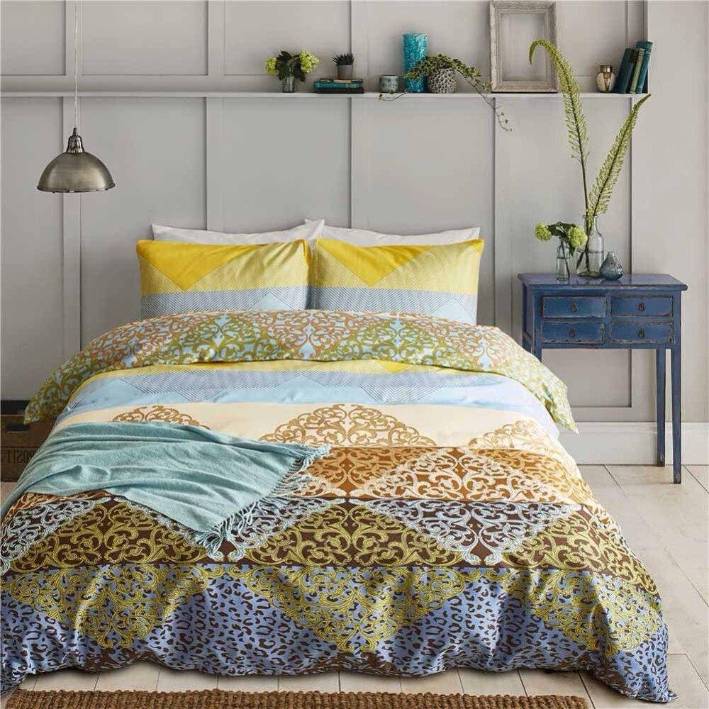 Luxury Egyptian Carving Bedding Set Queen King Size 3d Leopard Print Duvet Cover Set Pillowcase Jacquard Bed Linen Quilt Cover