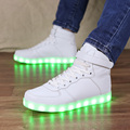 USB Charging High-top LED Shoes Kids Light Up Shoes Boys Zapatillas Led Slippers Glowing Sneakers Luminous Sneakers