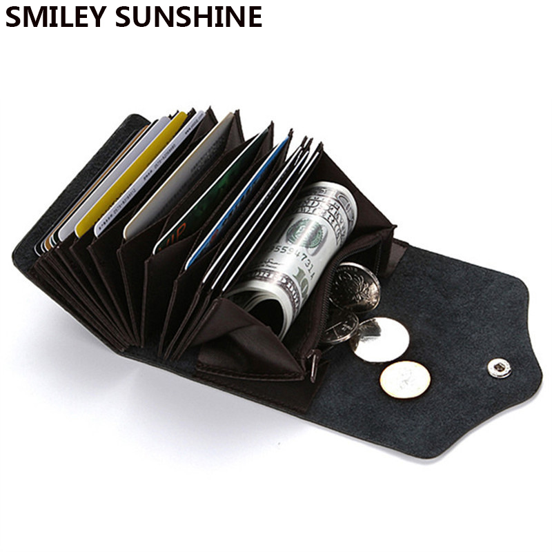 SMILEY SUNSHINE Leather Business Rfid Card Holder Wallet Bank Credit Card Case ID Holders Passport Cover cardholder porte carte joyir men passport cover genuine leather passport holder travel wallet card wallet credit card holder porte carte business male