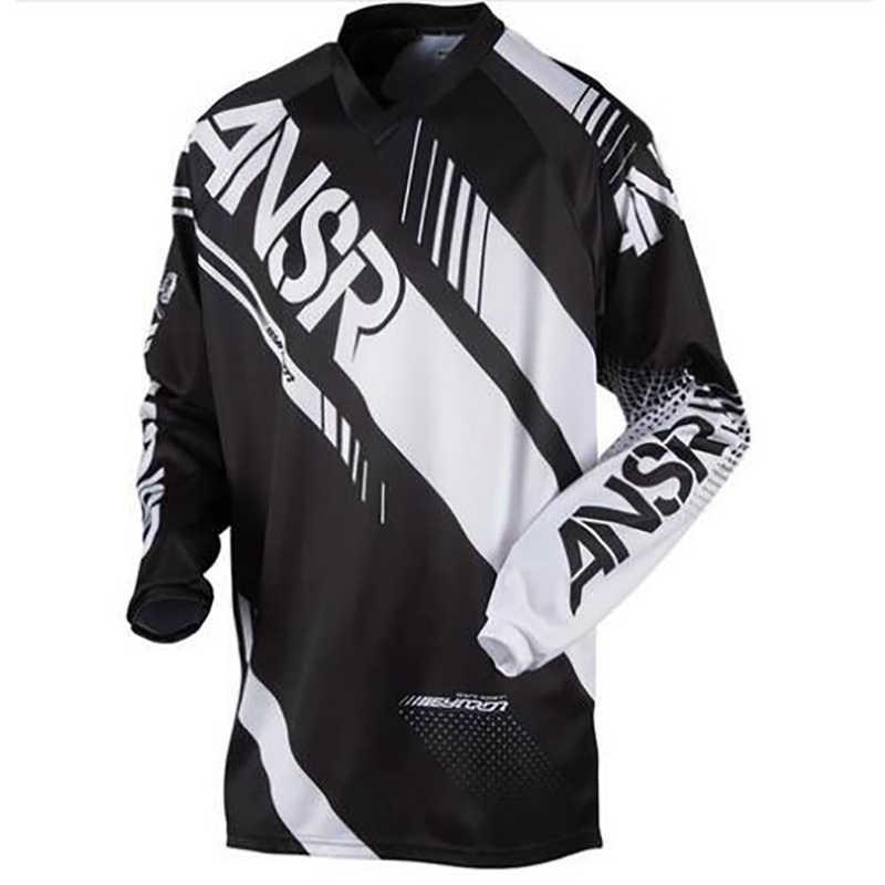 2018 człowiek nowy czerwony niebieski orange Moto GP Mountain Bike Motocross Jersey BMX długie MTB wyścigi T koszula odzież sportowa w dół KG