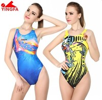 Yingfa Professional Lady Swimwear One Piece Women Swimsuit Fahion Sports Racing Competition Sexy Girl Bathing Suit