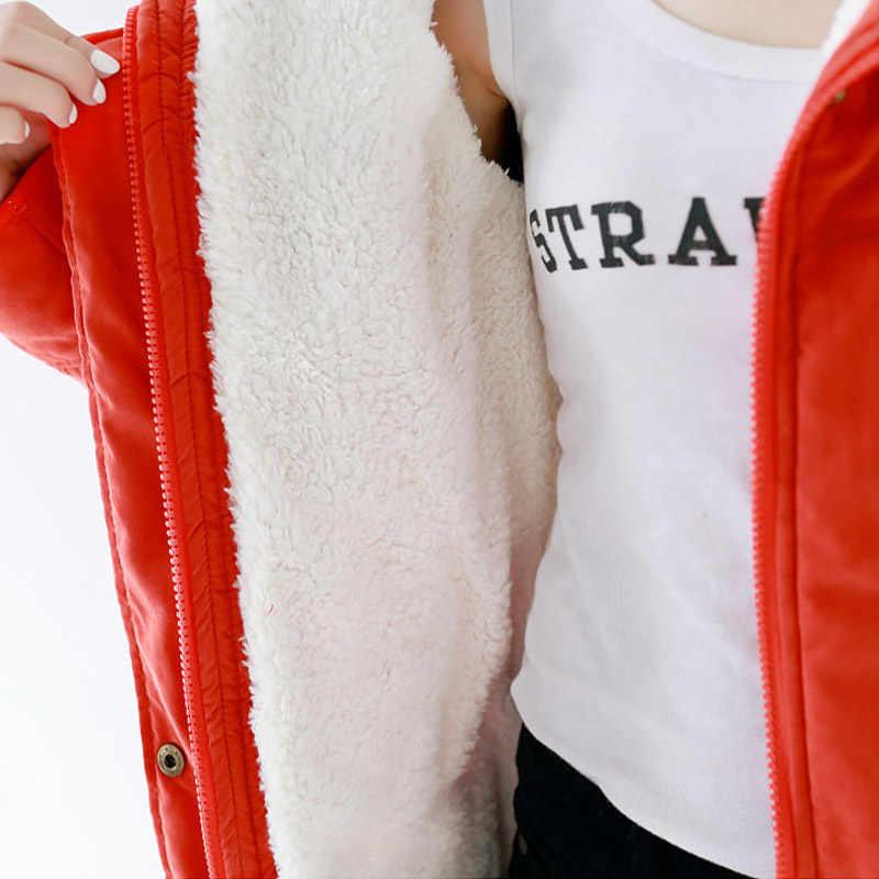 Winter vrouwen jas solid rits losse grote revers warm katoen vrouwen winter jas vrouwelijke jassen vrouwen parka winterjas jas
