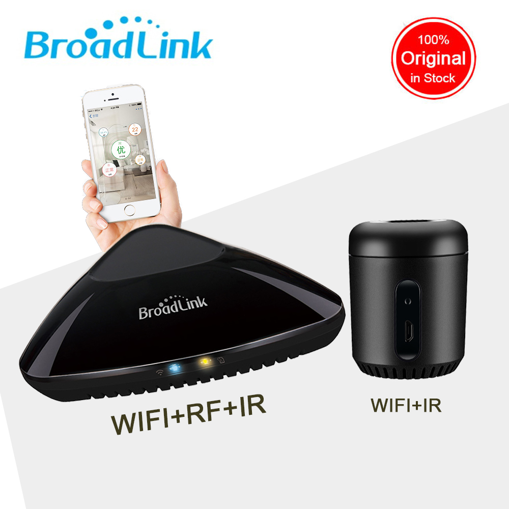 Broadlink rm mini 3 RM4 RM Pro Smart Home WIFI+IR+RF Universal Intelligent  Wireless Remote Controller For IOS Android|mini 3|tc2 us|control light switch - title=