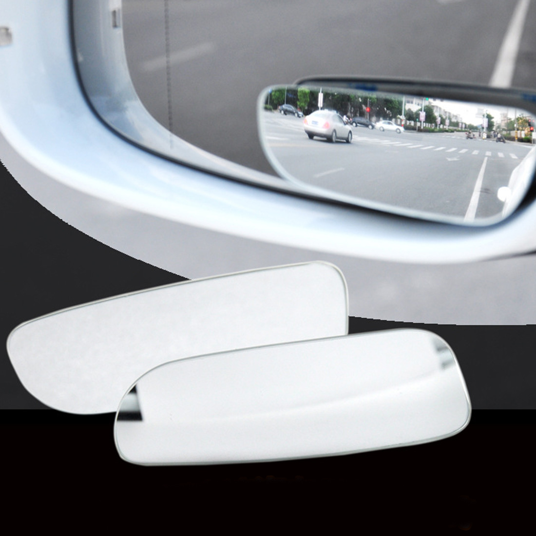 Dewtreetali 2Pcs Car 360 Degree Wide Angle Convex Blind Spot Mirror Parking Auto Motorcycle Rear View Adjustable Mirror 2 in 1 car blind spot mirror wide angle mirror 360 rotation adjustable convex rear view mirror view front wheel car mirror