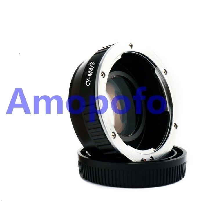 Amopofo CY-M4/3 Focal Reducer Speed Booster Adapter for Contax Yashica CY mount Lens to For Panasonic DMC-G1, DMC-G2, DMC-G3,GH1 pixco focal reducer speed booster lens adapter ring suit for canon ef lens to suit for micro 4 3 m4 3 camera gx7 e m5 e pl6