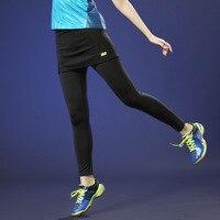 Feminino badminton wear calças cortadas magro respirável secagem rápida verão saia aeróbica skort para meninas|Shorts-saias de tênis| |  -