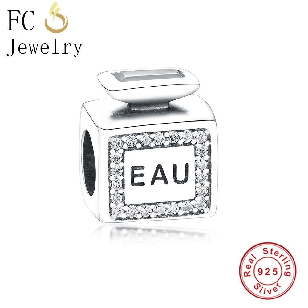 ALI shop ...  ... 32878728912 ... 2 ... FC Jewelry Fit Original Pandora Charms Bracelet 925 Sterling Silver Dress Lip Lipstick High Heels Bag Perfume Cup Berloque DIY  ...