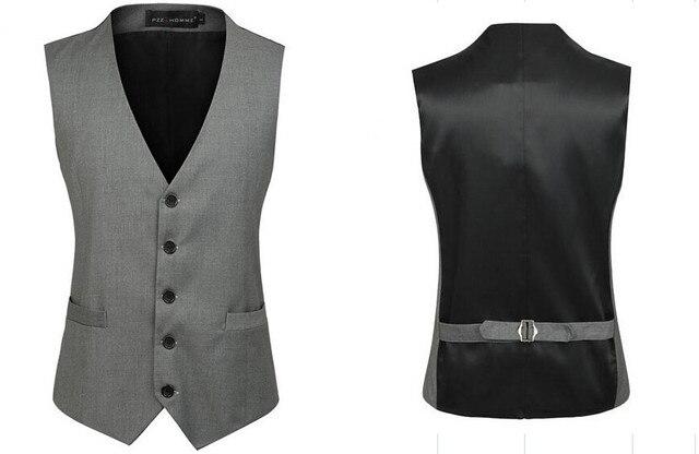 Мужская одежда жилет британский стиль тонкий Colete Masculino хлопок однобортный безрукавка жилет мужчины жилет