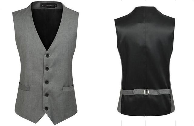 Men's Clothing vest British Style Slim Colete Masculino Cotton Single Breasted Sleeveless Jacket Waistcoat Men Suit Vest