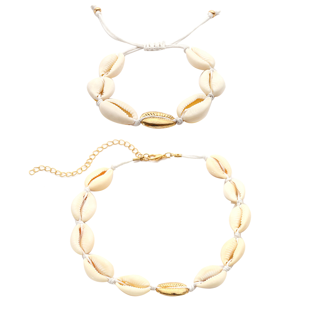 bj's renewal discount 2019 Bohemia Summer Beach Women Sea Shell Choker solitaire pave engagement ring Necklace Bracelet Jewelry Set Tassel Necklace Jewelry winter clothes clearance sale online Jewelry Sets ri9982683