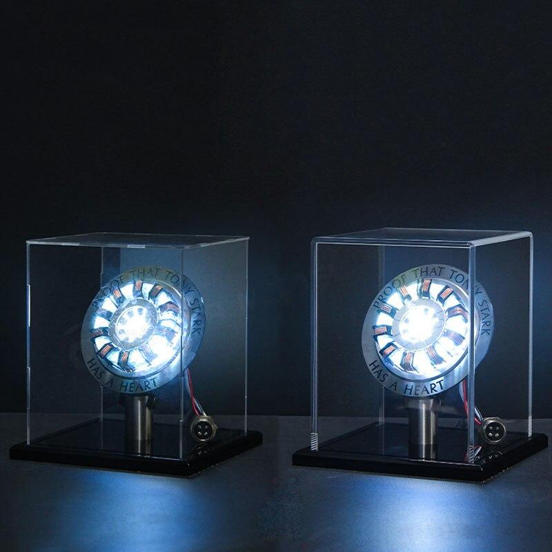 Nouveau chaud Endgame Cool 1:1 échelle fer homme Arc réacteur une génération de fer brillant homme coeur modèle Action Figure jouet avec LED lumière