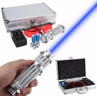 017 High power 50000m 450nm Blue laser pointer Laser pen burn match solder w/ starry caps laser cannon laser gun With box