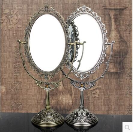 europen large size antique metal frame glass desktop mirror round mirror with decorative mirror. Black Bedroom Furniture Sets. Home Design Ideas