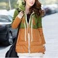 Супер Дело Вниз Parkas 2016 Мода Женщины Утка Вниз Куртки Длинный Широкий Талией Пальто Сращены Повседневная Пальто Рекламные скидки