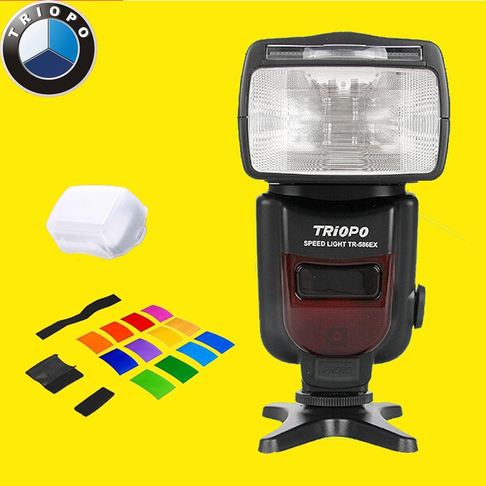 Новый Triopo TR-586EX Режим Беспроводной Вспышки TTL Speedlite Для NIKON CANON DSLR Камеры Вспышка TR586EX КАК YONGNUO YN565EX YN568EX