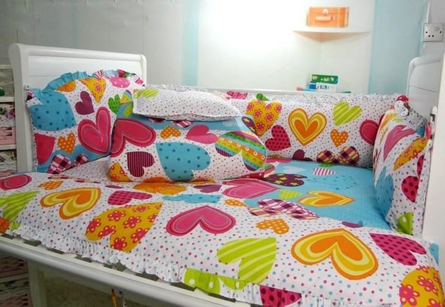 Baby crib bedding set cot bedding sets 6 PCS baby bedding set Bedding Bumpers + Sheet+pillowcase