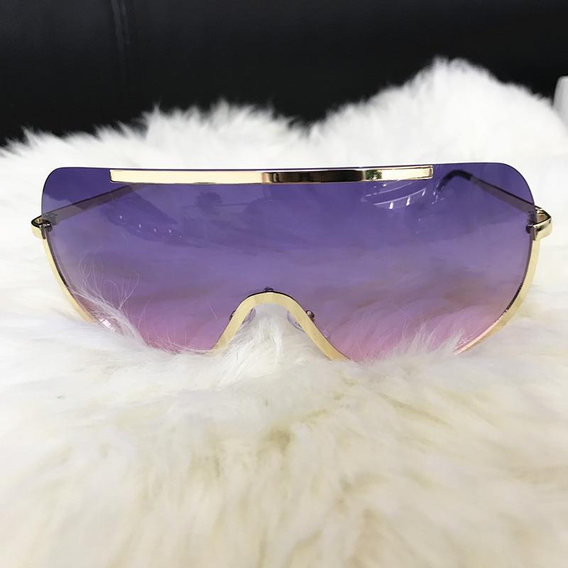 Rimless Gold Clear Sunglasses Men Women Brand Designer Aviator Clear Sunglasses 17