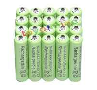 4/8/16/24/32/48 Uds AAA 1800mAh 3A 1,2 V Ni-MH batería verde recargable para MP3 RC Toys envío gratis