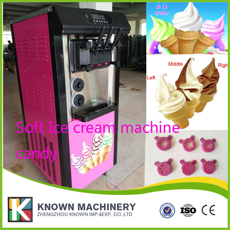 20L -25L per hour capacity Soft ice cream machine commercial 3-color icecream maker (ship by sea free with CFR term) hot sale electric commercial stuffed meatball making machine cfr price shipoping by sea