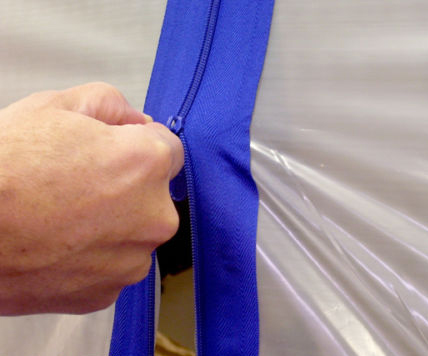 7Ft Blue Tarp Zip Up Zipper Door Peel u0026 Stick Doorway 86 L x 3 W Great 4 Tent Tarp ZipUp Grow Tent Stick on Zipper Photo Studio-in Photo Studio Accessories ... & 7Ft Blue Tarp Zip Up Zipper Door Peel u0026 Stick Doorway 86
