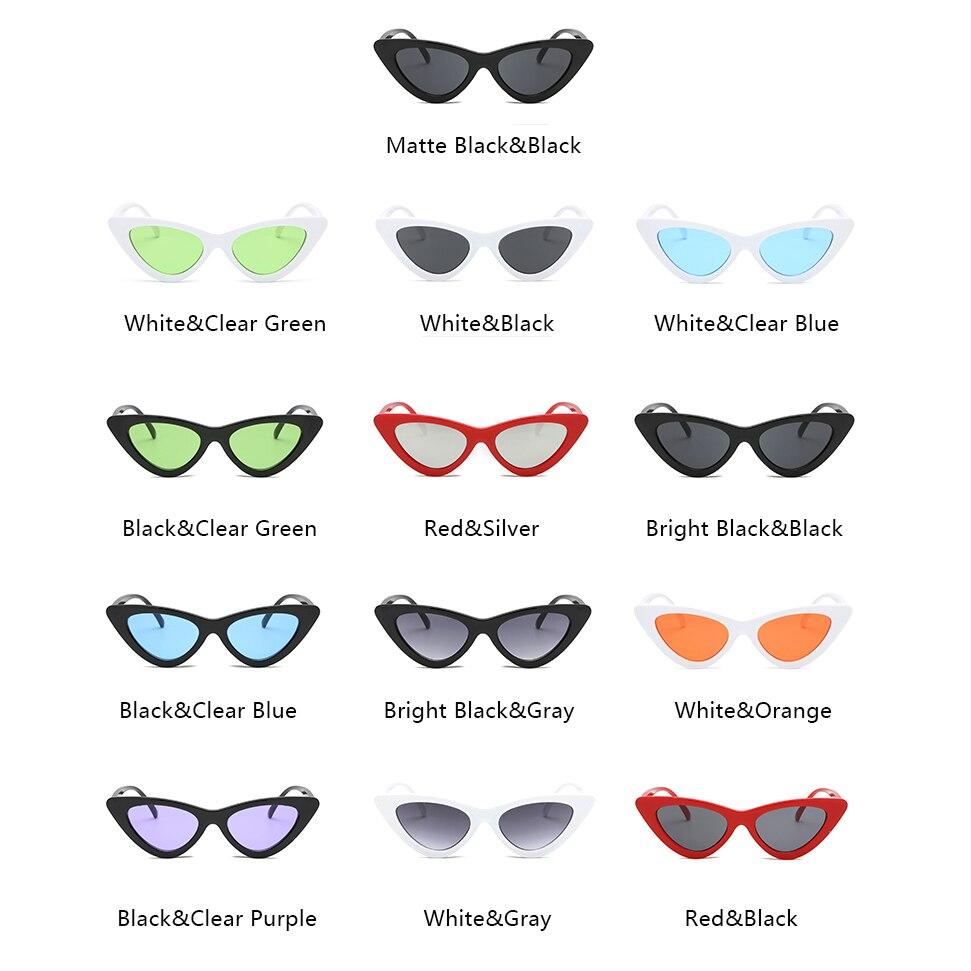 0ee74212ec24 Aimade 2018 модные милые сексуальные ретро кошачий глаз Солнцезащитные очки  для женщин Для женщин Винтаж Брендовая Дизайнерская обувь Cateye Защита от  ...