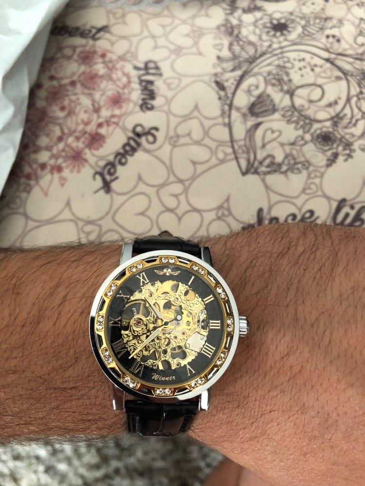 HTB138qhKeOSBuNjy0Fdq6zDnVXai Winner Black Golden Retro Luminous Hands Fashion Diamond Display Mens Mechanical Skeleton Wrist Watches Top Brand Luxury Clock