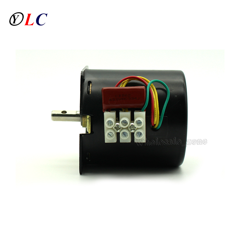New ac220v 60ktyz reduction motor 110rpm low noise gear for Low speed dc motor 0 5 6 volt