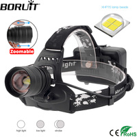BORUiT 2806 XPH70.2 светодиодный налобный фонарь масштабируемый 3 режима фара usb-зарядное устройство Головной фонарь охотничий фонарик 18650 батарея