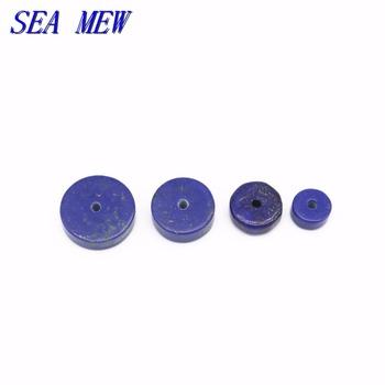 Morze MEW 10 sztuk 6mm 8mm 10mm 12mm lapis lazuli kamień koraliki płaskie luźne koraliki przekładki koraliki do tworzenia biżuterii tanie i dobre opinie SEA MEW NONE zawieszki Okrągły kształt moda 965bz 6mm*3mm 8mm*3mm 10mm*3mm 12mm*3mm 1 5mm