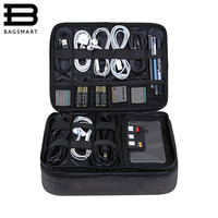 BAGSMART Travel Accessories Bags Date Cable Digital Finishing Bag Data Charger Wire Bag Mp3 Earphones Usb