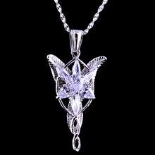 Alta qualidade lotr s925 sliver arwen evenstar pingente colar presente do dia dos namorados para namorada menina mulher sliver jóias