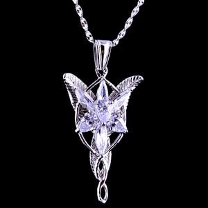 Image 1 - Alta qualidade lotr s925 sliver arwen evenstar pingente colar presente do dia dos namorados para namorada menina mulher sliver jóias