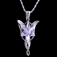High Quality LOTR S925 Sliver Arwen Evenstar Pendant Necklace Valentines Day Gift for Girlfriend Girl Women Sliver Jewelry