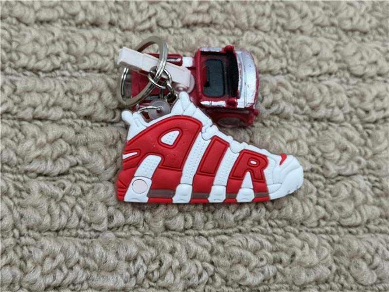 Mini Silikon HAVA çanta anahtarlığı Charm Kadın Erkek Çocuklar Anahtarlık Hediyeler Sneaker Anahtarlık Kolye Aksesuarları Jordan Ayakkabı Anahtarlık