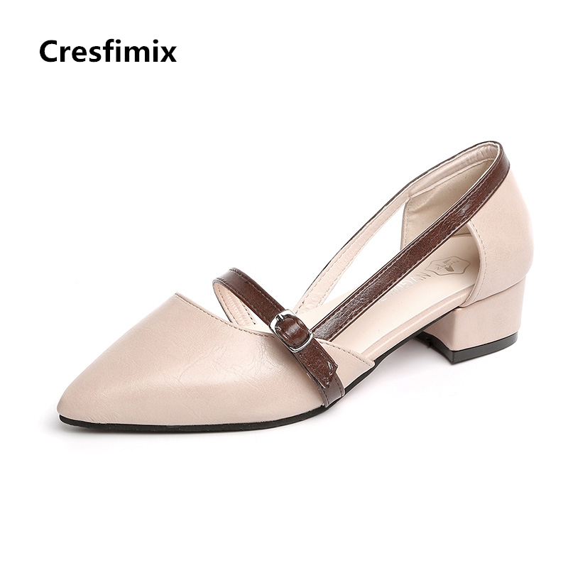 Cresfimix women fashion pu leather high heel shoes lady cute party night club slip on high heel pumps female spring summer shoes cresfimix women fashion