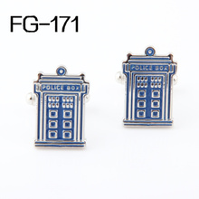 Men's accessories Fashion Cufflinks FREE SHIPPING:High Quality Cufflinks For Men  FIGURE  2013Cuff Links Police Box Wholesales pair of chic police box shape cufflinks for men