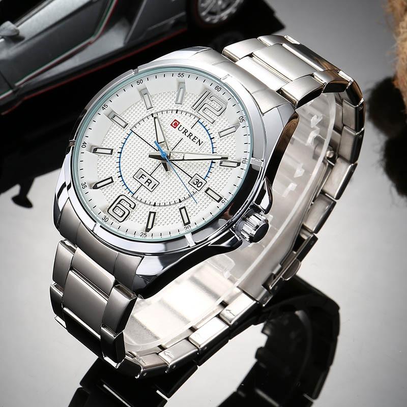Curren 손목 시계 2017 석영 시계 남자 시계 톱 브랜드 럭셔리 유명 패션 손목 시계 남성 시계 relogio masculino hodinky-에서수정 시계부터 시계 의