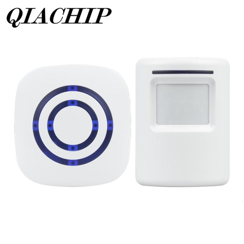 QIACHIP 2018 Brand Wireless Digital Doorbell With PIR Motion Sensor Infrared Detector Induction Alarm Door Bell Button Home DS35 qiachip 2017 brand wireless digital doorbell with pir motion sensor infrared detector induction alarm door bell button home diy