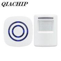 QIACHIP 2018 Brand Wireless Digital Doorbell With PIR Motion Sensor Infrared Detector Induction Alarm Door Bell