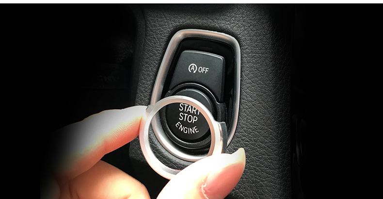 Купить с кэшбэком Fit for BMW F20 F30 316i 320i 328i aluminum dedicated a key start button decorative circle ignition coils Stickers Car styling