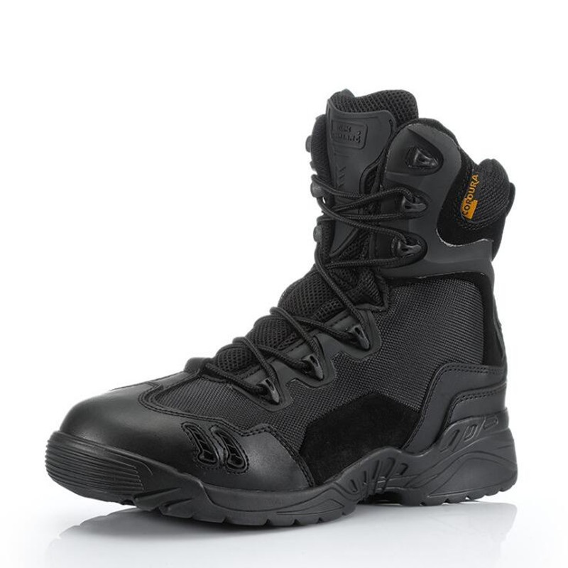 Special Forces Desert Army Boots Spider Men High Top Combat Tactical Long Boots Military Lace Up Shoes White Black Leather doc martens schwarz pascal
