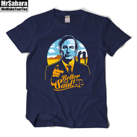 BETTER CALL SAUL Men T Shirt BREAKING BAD Los Pollos Hermanos Cotton Short Sleeve Round Neck