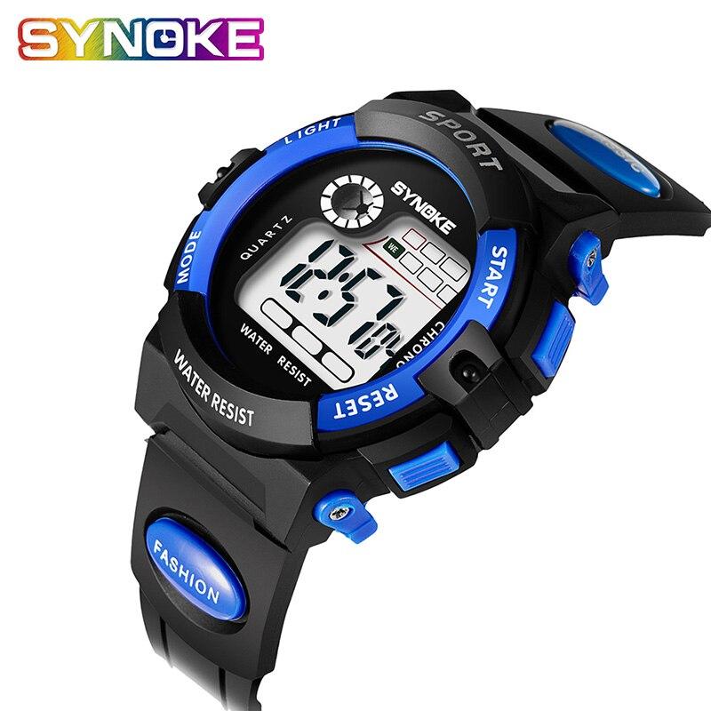 SYNOKE Watches Children Clock Digital Waterproof Boys Gift Enfant Led Montre Girs Students