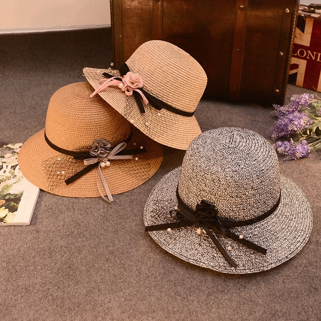ddb0f8729b04e New Elegant Flowers Along Fisherman Cap Basin Hat Sunscreen Hats 2016 Beach  Hat Summer Travel Cap
