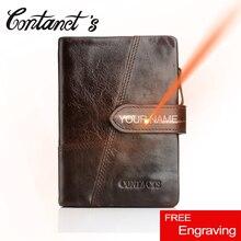 Retro Wallet For Men Genuine Leather Vintage Brand Male Clutch Bag Design Removed Coin Purse Zip&Hasp Credit Card Holder 4 Color