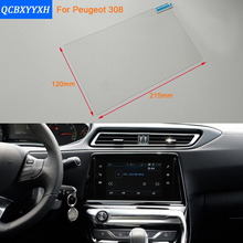 Car Styling 9.7 Inch GPS Navigation Screen Steel Protective Film For Peugeot 308 Control of LCD Screen Car Sticker