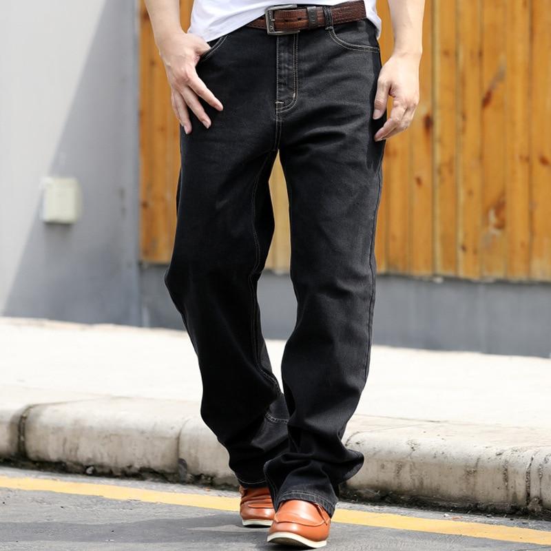 Jeans Men 2019 New Fashion Men's Black Jeans Men's Straight Loose Large Size Casual Pants Men's Denim Trousers More Size 28-44