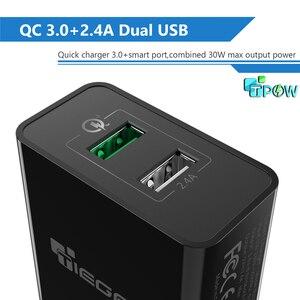 Image 2 - TIEGEM 30 Вт быстро Quick Charge 3,0 + 2.4A Dual USB универсальный мобильный телефон Зарядное устройство Портативный ЕС США Разъем для samsung huawei Xiaomi LG