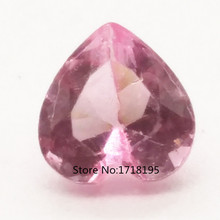 40pcs 5mm heart Pink Tourmaline October birthstone Floating Charm formemory love locket  LFC_055